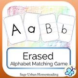 Erased Alphabet Matching Game with Handwriting Practice