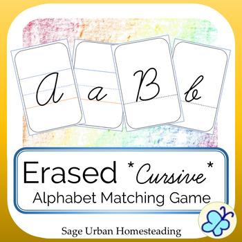 Erased Cursive Alphabet Matching Game with Handwriting Practice