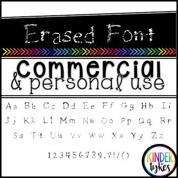 Erased Font by Kinder Tykes for Personal & Commercial Use