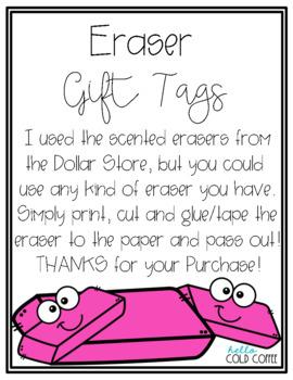Eraser Gift Tags