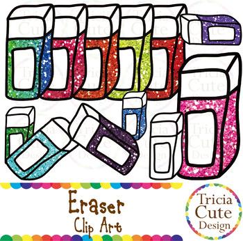 Eraser School Supplies Clip Art Glitter