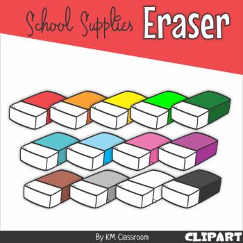 Eraser School Supplies ClipArt