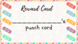 Eraser-themed printable punch cards