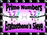 Bundle Math Lab (THREE IN ONE):  Eratosthenes' Sieve, Primes, Biography Research