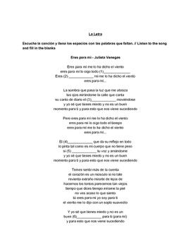 Eres para mí guía (Canción Julieta Venegas) - Spanish