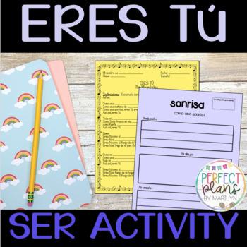 Eres tú by Mocedades - lyrics, cloze, vocabulary, video activity