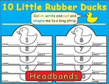 Rubber ducks teaching resources teachers pay teachers eric carle 10 little rubber ducks headbands fandeluxe Image collections