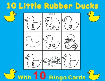 Rubber ducks teaching resources teachers pay teachers 10 little rubber ducks eric carle tic tac toe bingo game cards fandeluxe Image collections