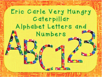 Eric Carle Alphabet Clip Art, Color Polka Dot, The Very Hungry Caterpillar Text