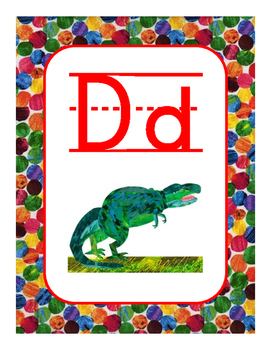 Eric Carle Alphabet (Lined)