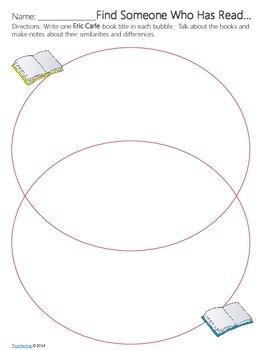Eric Carle Author Study {NO PREP Writing Activities & Game}