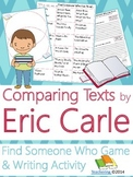 Eric Carle Author Study {NO PREP Writing Activities & Game}