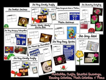 Eric Carle Author Study {Crafts, Chart Parts, Printables, Activities & More}