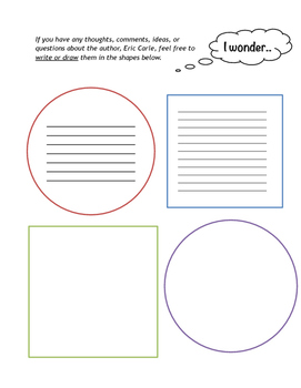 Eric Carle Author Study Packet