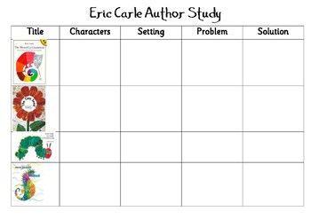 Eric Carle Author Study Sheet