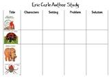 Eric Carle Author Study Sheet