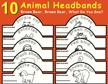 Eric Carle Brown Bear, What Do You See?-Animal Headbands