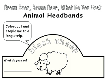Eric Carle Brown Bear, What Do You See?-Animal Headbands
