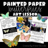 Painted Paper Butterflies Art Lesson Plan