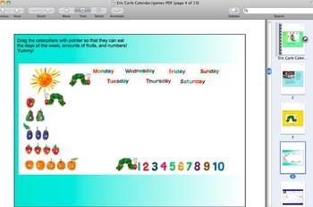 Eric Carle Calendar/Games/Video Math & Literacy SMARTBoard Davenport