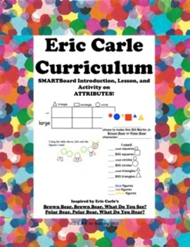 Eric Carle Character Attributes:  A Think Math! Common Core Math Activity