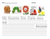 Eric Carle Favorite Book Writing