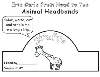 Eric Carle From Head to Toe-Animal Headbands