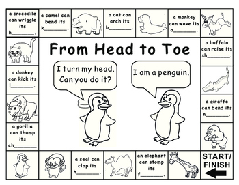 Eric Carle-From Head to Toe Game Board