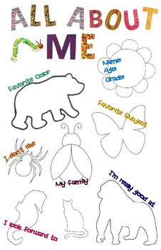 "Eric Carle Inspired ""All About Me"" getting to know me"