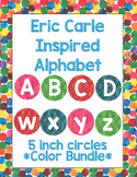 Eric Carle Inspired Alphabet | Bulletin Board Letters | Word Wall | 5 Colors