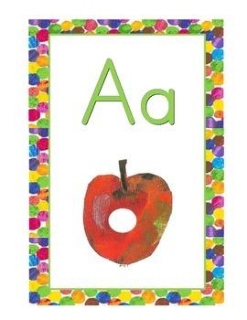 Eric Carle Inspired Alphabet Cards