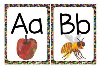 Eric Carle Inspired Alphabet Cards