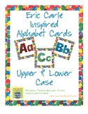 Eric Carle Inspired Classroom - Upper and Lower Case Alphabet Cards - Word Wall