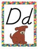 Eric Carle Inspired Classroom - Alphabet Posters in D'Nealian Font