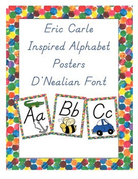 Eric Carle Inspired Classroom - Alphabet Posters in D'Neal