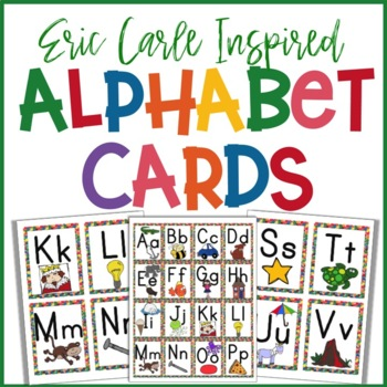 Eric Carle Inspired Classroom - Upper Case Alphabet Cards - Word Wall