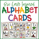 Eric Carle Inspired Alphabet Cards   Great for Flashcards Word Wall Centers