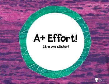 Eric Carle Inspired Behavior Chart