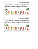 Eric Carle Inspired Behavior Incentive Card