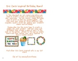 Eric Carle Inspired Classroom - Birthday Board or Display