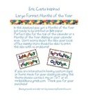 Eric Carle Inspired Classroom - Months of the Year - Calen