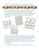 Eric Carle Inspired Classroom - Calendar Set - Colorful Dots