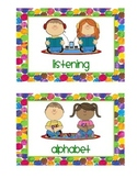 Eric Carle Inspired Center Signs
