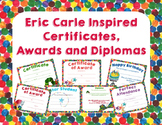 Eric Carle Inspired Certificates, Awards and Diplomas