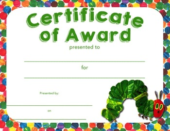 certificates of award