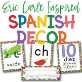 Eric Carle Inspired Classroom SPANISH Bundle   Spanish Classroom Decor