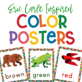 Eric Carle Inspired Color Posters   Color Signs 4 Sizes   Color Words Book Too!