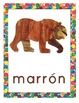 Eric Carle Inspired Classroom - Color Posters - Spanish