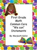 Eric Carle Inspired Common Core Objectives First Grade Mat