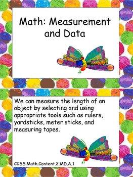 "Eric Carle Inspired Common Core Objectives Second Grade Math ""We can"" Statements"